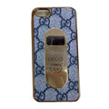 GUCCI Luxury leather Cases Hard Back Covers for iPhone 5S - Grey
