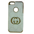GUCCI Luxury leather Cases Hard Back Covers for iPhone 5S - White