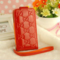 GUCCI leather Cases Luxury Holster Skin Covers for iPhone 5S - Red
