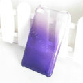 Gradient Purple Silicone Hard Cases Covers For iPhone 5S