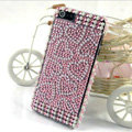 Heart diamond Crystal Cases Bling Hard Covers for iPhone 5S - Pink