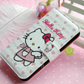 Hello Kitty Side Flip leather Case Holster Cover Skin for iPhone 5S - White 05