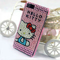 Hello kitty diamond Crystal Cases Bling Hard Covers for iPhone 5S - Pink