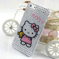Hello kitty diamond Crystal Cases Bling Hard Covers for iPhone 5S - White