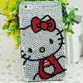 Hello kitty diamond Crystal Cases Luxury Bling Hard Covers Skin for iPhone 5S - White