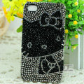Hello kitty diamond Crystal Cases Luxury Bling Hard Covers for iPhone 5S - Grey