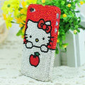 Hello kitty diamond Crystal Cases Luxury Bling Hard Covers for iPhone 5S - Red