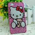 Hello kitty diamond Crystal Cases Luxury Bling Hard Covers for iPhone 5S - Rose