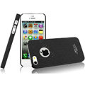 IMAK Cowboy Shell Quicksand Hard Cases Covers for iPhone 5S - Black (High transparent screen protector)