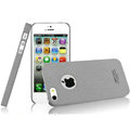 IMAK Cowboy Shell Quicksand Hard Cases Covers for iPhone 5S - Gray (High transparent screen protector)