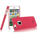 IMAK Cowboy Shell Quicksand Hard Cases Covers for iPhone 5S - Rose (High transparent screen protector)