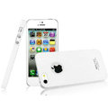 IMAK Cowboy Shell Quicksand Hard Cases Covers for iPhone 5S - White (High transparent screen protector)