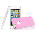 IMAK Matte double Color Cover Hard Case for iPhone 5S - Pink (High transparent screen protector)