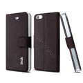 IMAK Squirrel lines leather Case support Holster Cover for iPhone 5S - Coffee