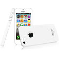IMAK Ultrathin Matte Color Covers Hard Cases for iPhone 5S - White (High transparent screen protector)
