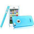 IMAK Water Jade Shell Hard Cases Covers for iPhone 5S - Blue (High transparent screen protector)