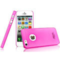 IMAK Water Jade Shell Hard Cases Covers for iPhone 5S - Rose (High transparent screen protector)