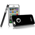 Imak ice cream hard cases covers for iPhone 5S - Black (High transparent screen protector)