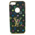 LOUIS VUITTON LV Luxury leather Cases Hard Back Covers Skin for iPhone 5S - Black