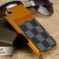 LV LOUIS VUITTON Ultrathin Metal edge Hard Back Cases Covers for iPhone 5S - Grey