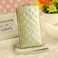 LV LOUIS VUITTON leather Cases Luxury Holster Covers Skin for iPhone 5S - White