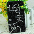 Luxury Bling Hard Covers Hello kitty diamond Crystal Cases for iPhone 5S - Black