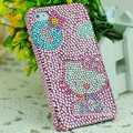 Luxury Bling Hard Covers Hello kitty diamond Crystal Cases for iPhone 5S - Pink