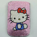 Luxury Bling Holster Covers Hello kitty diamond Crystal Cases for iPhone 5S - Pink EB005