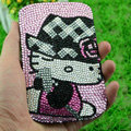 Luxury Bling Holster Covers Hello kitty diamond Crystal Cases for iPhone 5S - Pink