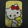 Luxury Bling Holster Covers Hello kitty diamond Crystal Cases for iPhone 5S - Yellow