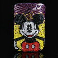 Luxury Bling Holster Covers Minnie Mouse diamond Crystal Cases for iPhone 5S - Red