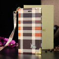 Luxury Burberry Fashion Best Leather Flip Cases Holster Covers For iPhone 5S - Orange