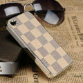 Luxury LV LOUIS VUITTON Ultrathin Metal edge Hard Back Cases Covers for iPhone 5S - Beige