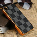 Luxury LV LOUIS VUITTON Ultrathin Metal edge Hard Back Cases Covers for iPhone 5S - Grey