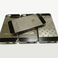 Luxury LV Louis Vuitton Plated metal Hard Back Cases Covers for iPhone 5S - Grey