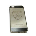 Luxury Plated metal Hard Back Cases LAMBORGHINI Covers for iPhone 5S - Grey