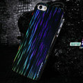 Nillkin Dynamic Color Hard Cases Skin Covers for iPhone 5S - Black (High transparent screen protector)