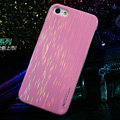 Nillkin Dynamic Color Hard Cases Skin Covers for iPhone 5S - Pink (High transparent screen protector)