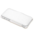 ROCK Dancing Series Side Flip Leather Cases Holster Covers for iPhone 5S - White and Gray