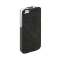 ROCK Eternal Series Flip leather Cases Holster Covers for iPhone 5S - Black