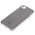 ROCK Joyful free Series Leather Cases Holster Covers for iPhone 5S - Black