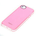 ROCK Joyful free Series Leather Cases Holster Covers for iPhone 5S - Pink