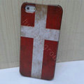 Retro Denmark flag Hard Back Cases Covers Skin for iPhone 5S