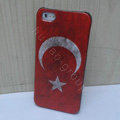 Retro Turkey flag Hard Back Cases Covers Skin for iPhone 5S