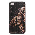 Skull Hard Back Cases Covers Skin for iPhone 5S - Black EB003