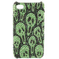 Skull diamond Crystal Cases Luxury Bling Hard Covers Skin for iPhone 5S - Green