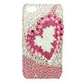 Swarovski Bling crystal Cases Love Luxury diamond covers for iPhone 5S - Pink