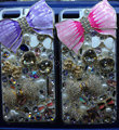 Swarovski crystal cases Bling Bowknot diamond cover for iPhone 5S - Purple