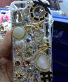 Swarovski crystal cases Bling Dragon diamond cover for iPhone 5S - White
