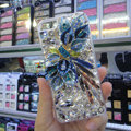 Swarovski crystal cases Bling Flower diamond covers for iPhone 5S - Blue